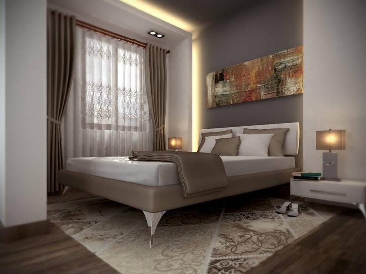 ömer kavak mühendislik ve danışmanlık hizmetleri – össe homes iç mekan:  tarz Yatak Odası