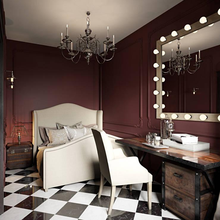 Интерьер квартиры 40 кв.м. в Мурманске: Спальни в . Автор – Студия дизайна интерьера Маши Марченко