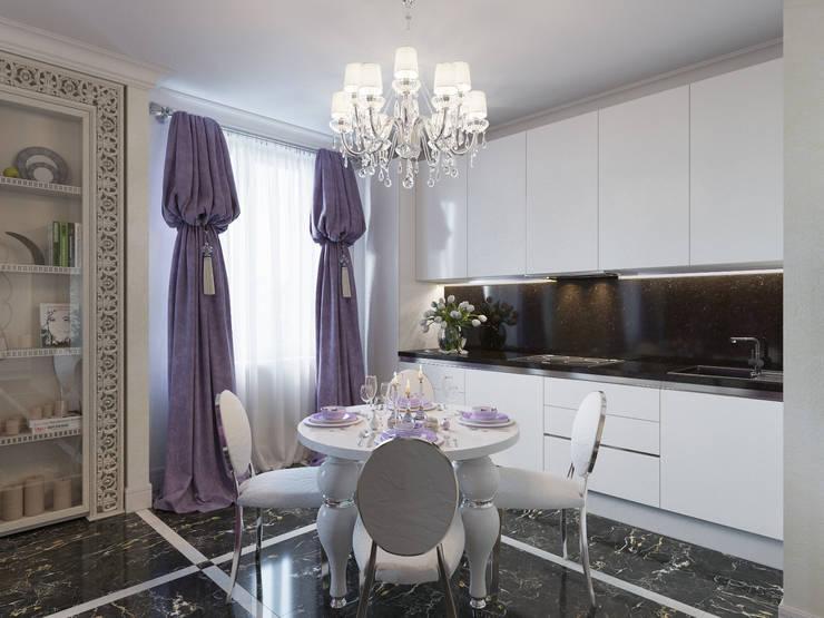 Квартира 90 кв.м. в ЖК «Ласточкино гнездо»: Кухни в . Автор – Студия дизайна интерьера Маши Марченко