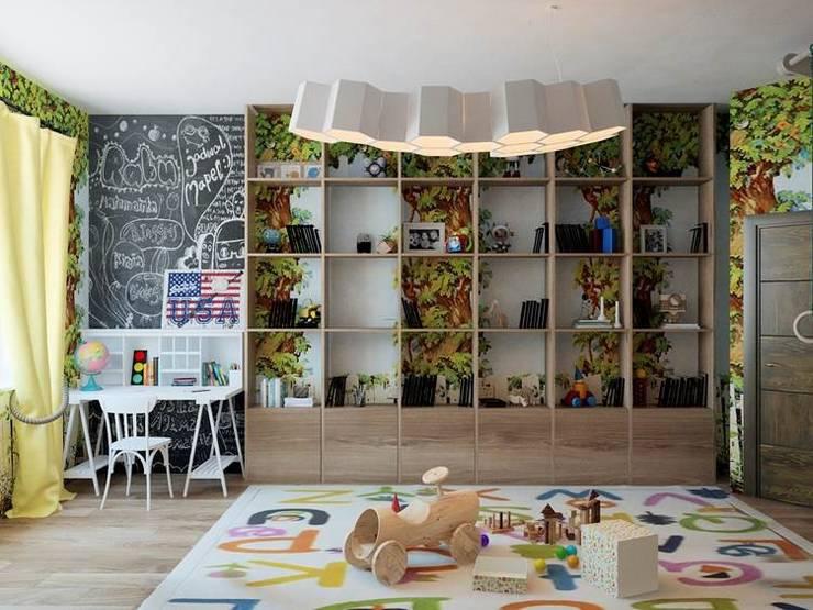 Квартира в индустриальном стиле, ЖК «Омега Хаус», 140 кв.м.: Детские комнаты в . Автор – Студия дизайна интерьера Маши Марченко