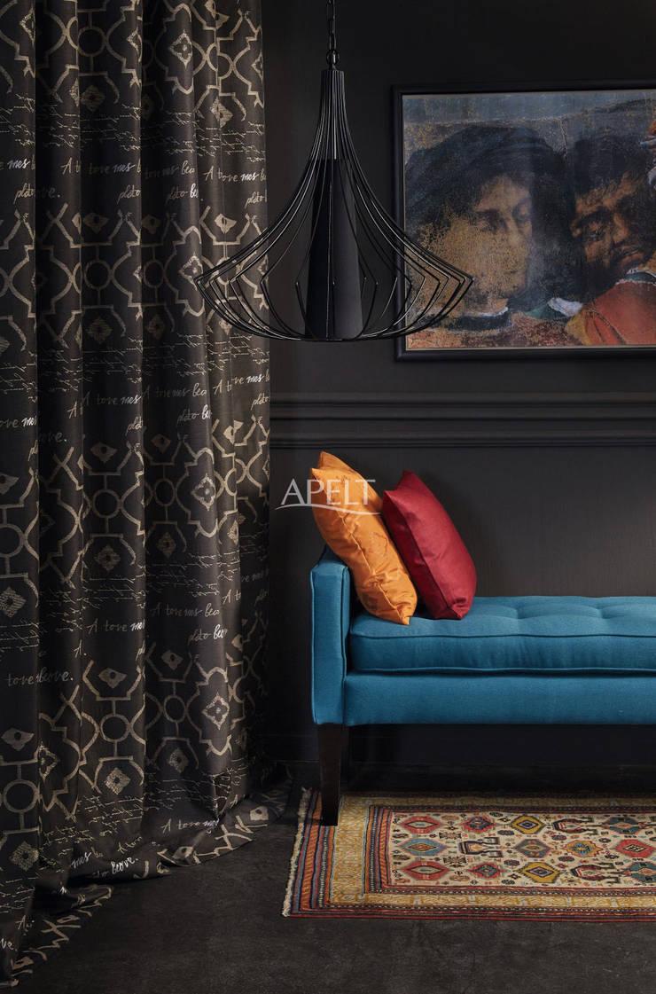 Easy Elegance - Vorhang und Kissen Moderne Wohnzimmer von Alfred Apelt GmbH Modern