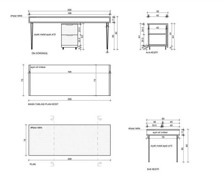 MAHAL MİMARLIK / MAHAL ARCHITECTS – Mahal Mimarlık:  tarz Ofis Alanları & Mağazalar