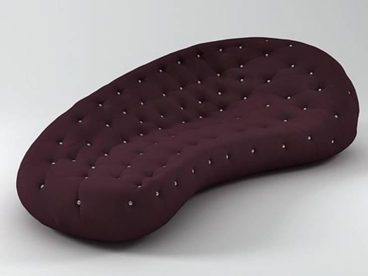 Роскошный диван для рок-звезды: Спальная комната  в . Автор – A-partment