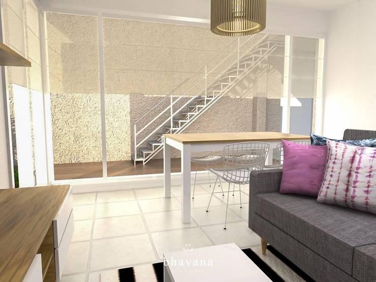 Salas / recibidores de estilo  por Bhavana,