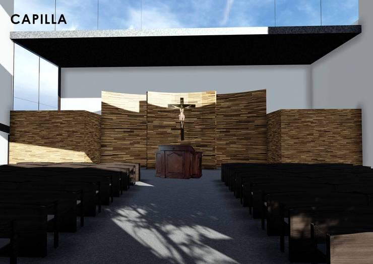 Capilla en San Martin:  de estilo  por Mario Ariel Vitorgan Arquitectura,