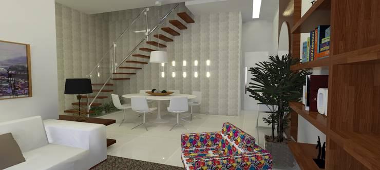 Cobertura Recreio: Salas de estar  por L N arquitetos
