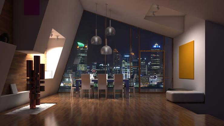 Interiores 3D Render: Comedor de estilo  por Atahualpa 3D