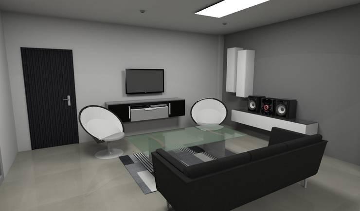 Render Interior – Diseño: Salas/Recibidores de estilo moderno por Atahualpa 3D