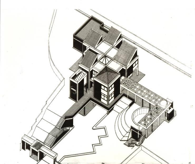 Casas de estilo  por OMAR SEIJAS, ARQUITECTO