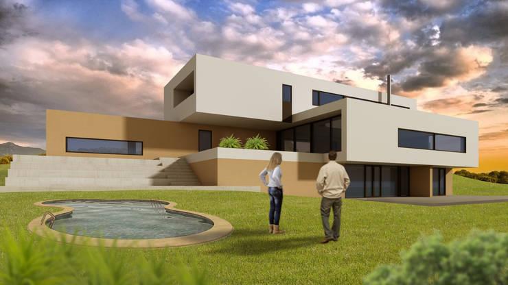 Casa Moderna - Despues:  de estilo  por Atahualpa 3D
