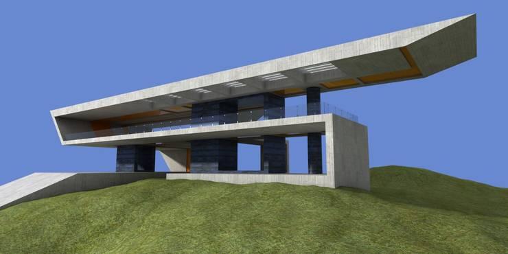 Casa Moderna 2 - Antes:  de estilo  por Atahualpa 3D
