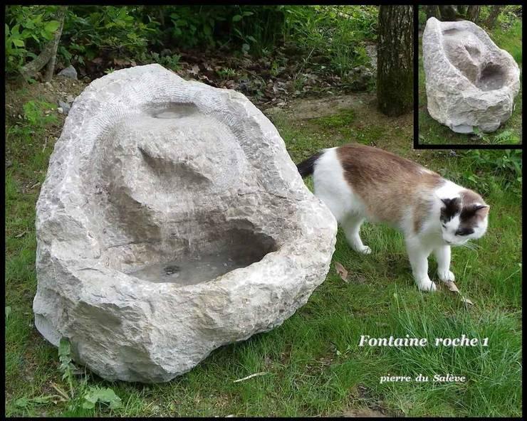 Fontaine Roche 1: Jardin de style  par Arlequin