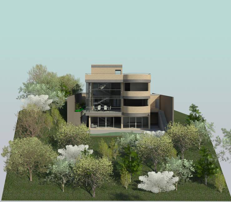 Fachada Sur: Casas de estilo  por OMAR SEIJAS, ARQUITECTO