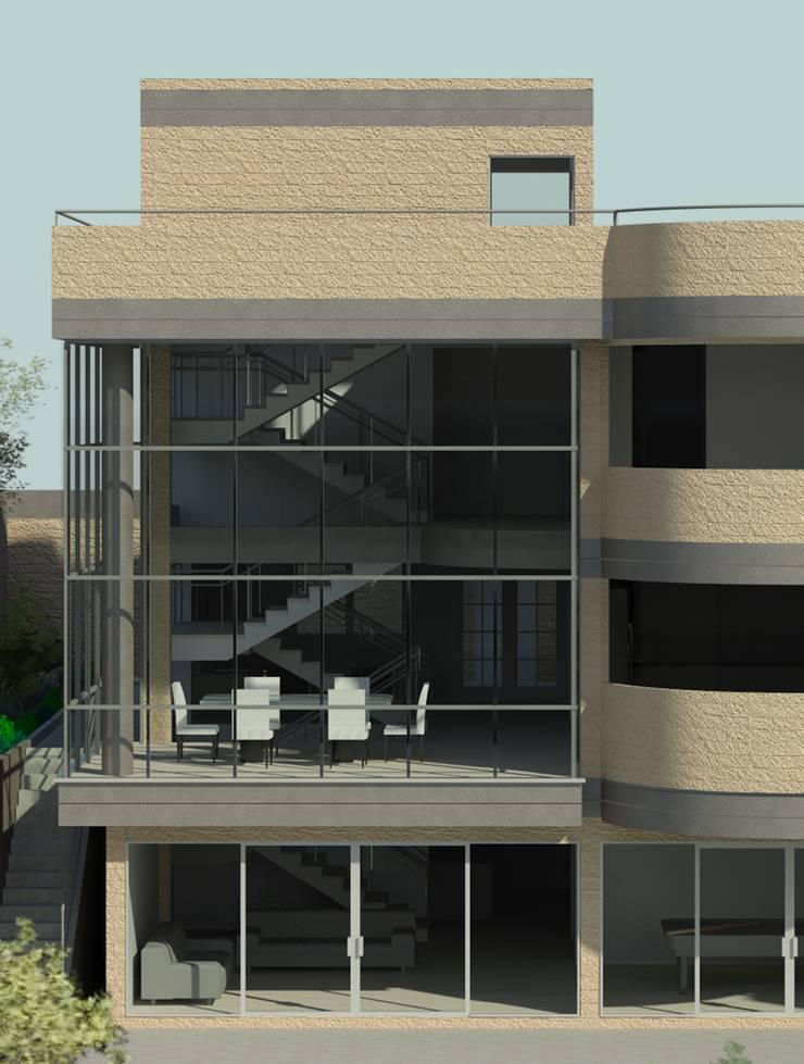 Doble altura: Casas de estilo  por OMAR SEIJAS, ARQUITECTO