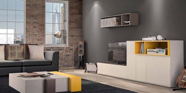 Salas de estar Living rooms www.intense-mobiliario.com  Cookie http://intense-mobiliario.com/product.php?id_product=3657: Sala de estar  por Intense mobiliário e interiores;