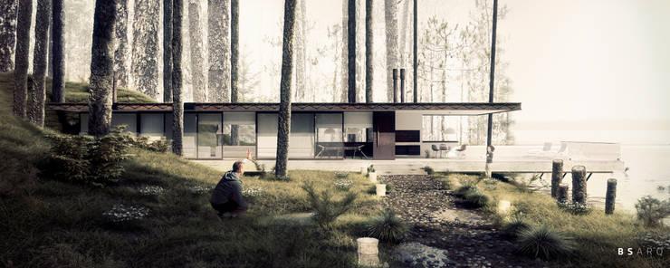 Casa en el Bosque: Casas de estilo  por BS ARQ