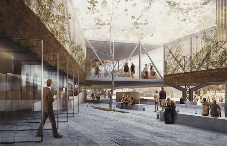 Estacion Rosario Sur Casas modernas: Ideas, imágenes y decoración de BS ARQ Moderno Metal