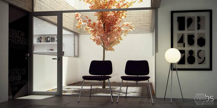 Estudio Bianchi + Faerman Arquitectos: Estudios y oficinas de estilo  por BS ARQ,Minimalista Concreto reforzado