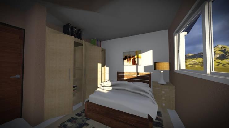 Dormitorio: Dormitorios de estilo  por Arq. Diego Barragán