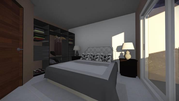 Dormitorio Matrimonial de Arq. Diego Barragán Rústico