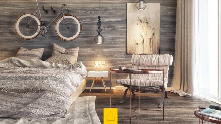 minimalistic Bedroom by Penintdesign İç Mimarlık