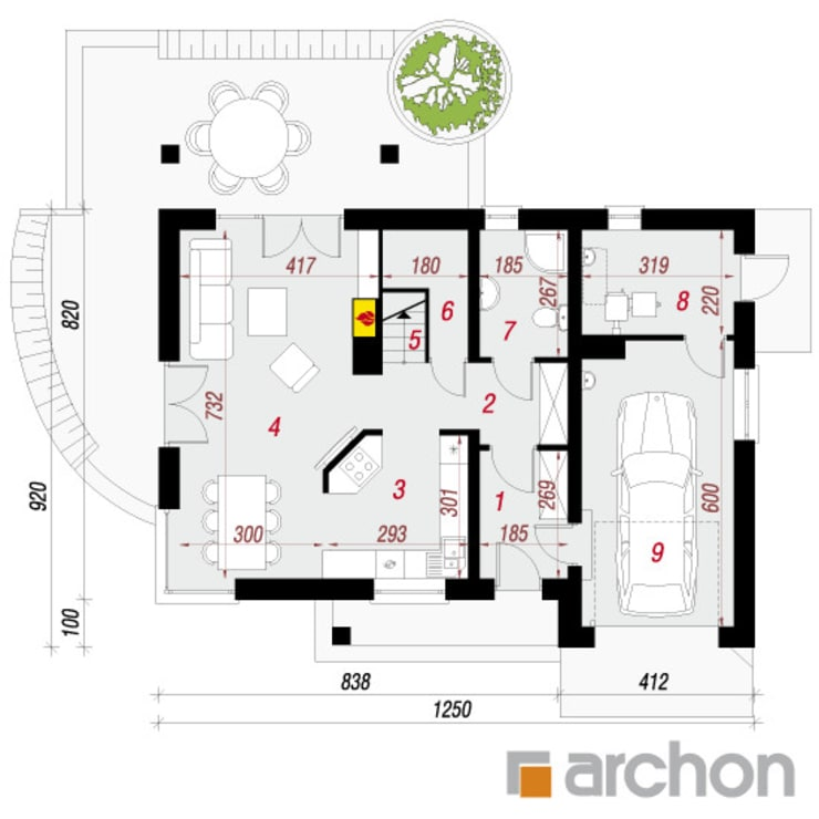 Projekt: Dom w wisteriach: styl , w kategorii  zaprojektowany przez ARCHON+ PROJEKTY DOMÓW
