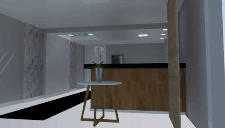 Perspectiva Recepção Hotel:   por Arquiteta Ive Oliveira ,