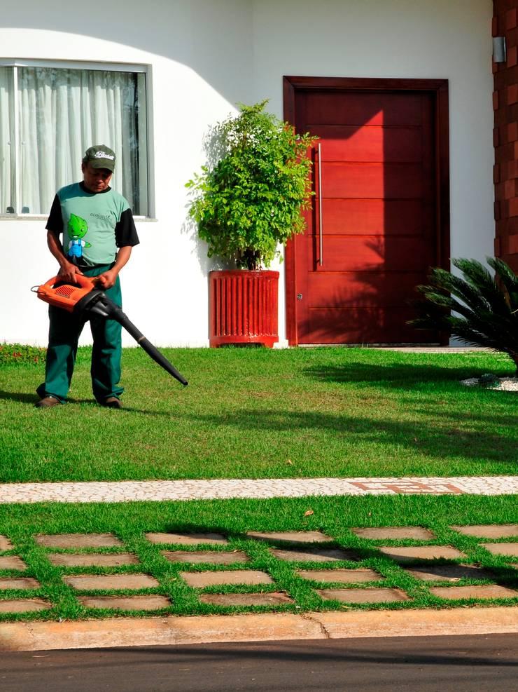 Soprador para deixar tudo limpinho: Jardim  por Ecojardim
