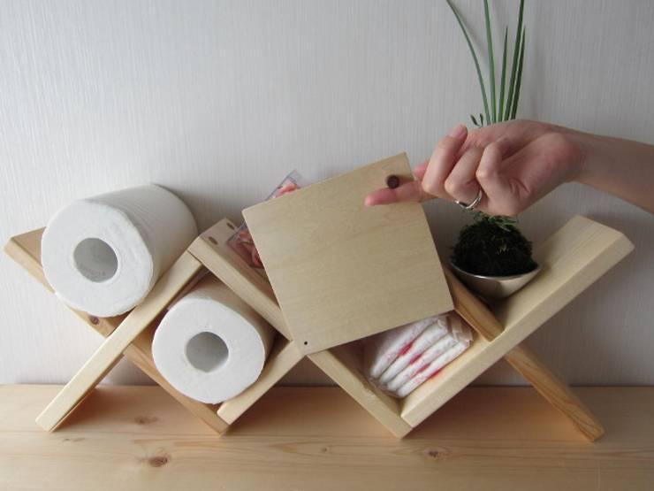 トイレラック-B: 作房和樂(サボウワラク)が手掛けた洗面所&風呂&トイレです。
