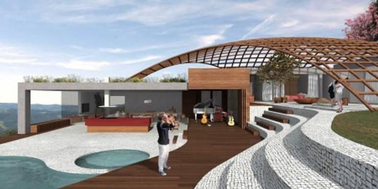 Casa Cirque Du Pierrô Casas ecléticas por Atelier O'Reilly Architecture & Partners Eclético Tijolo
