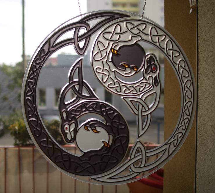 Zawieszka Yin Yang: styl , w kategorii Okna i drzwi zaprojektowany przez GAWITR
