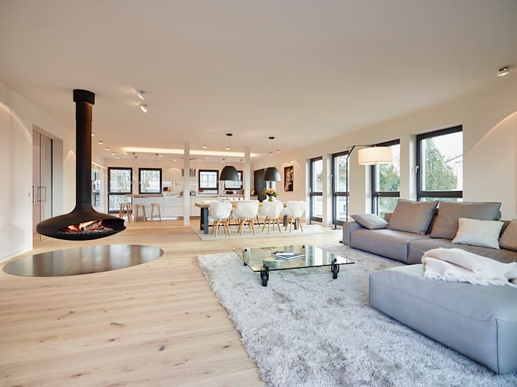 moderne Woonkamer door HONEYandSPICE innenarchitektur + design
