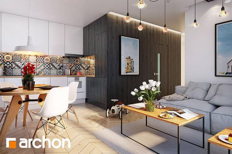 Stół Timber: styl , w kategorii  zaprojektowany przez ArchonHome.pl,Nowoczesny Drewno O efekcie drewna
