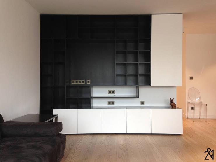 Apartment P 16 : Salon de style de style Minimaliste par 2&1