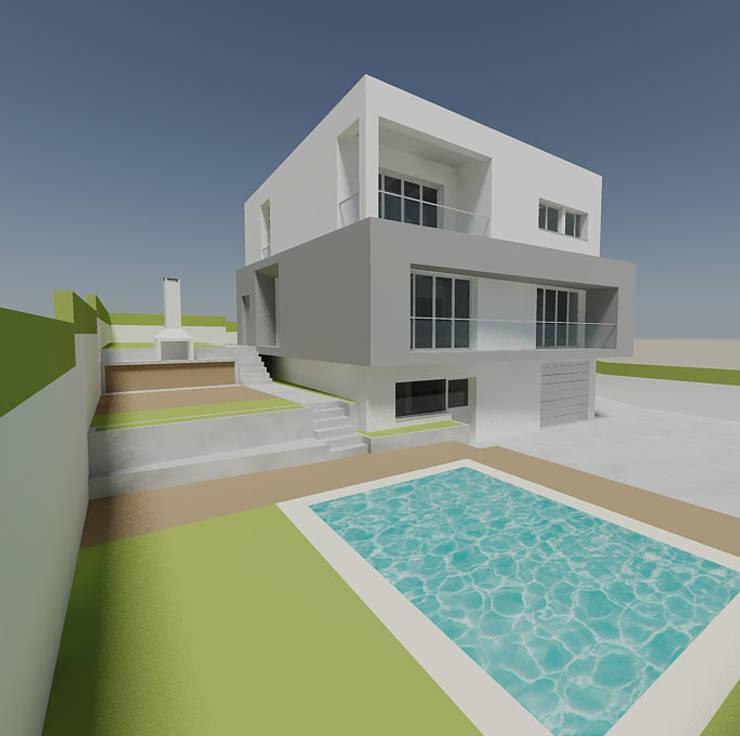 Moradia em Vale Mourão:   por Cláudia Bravo - Arquitectura & Interiores