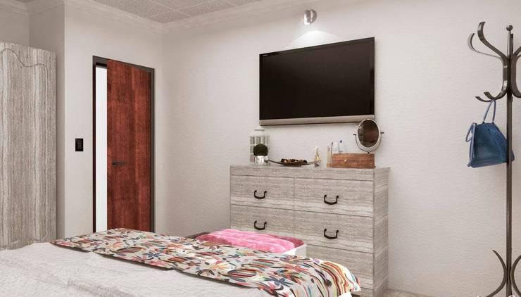 Re decorando una Habitación : Dormitorios de estilo  por VI Arquitectura & Dis. Interior