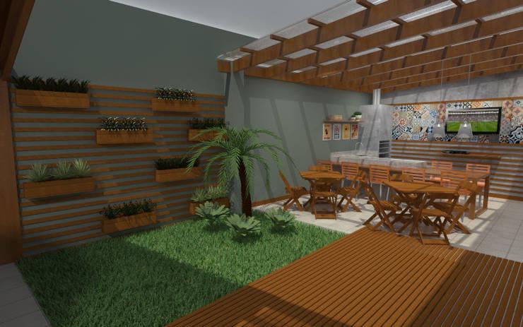 Espaço Gourmet Poço Rico: Terraços  por M Arquitetura