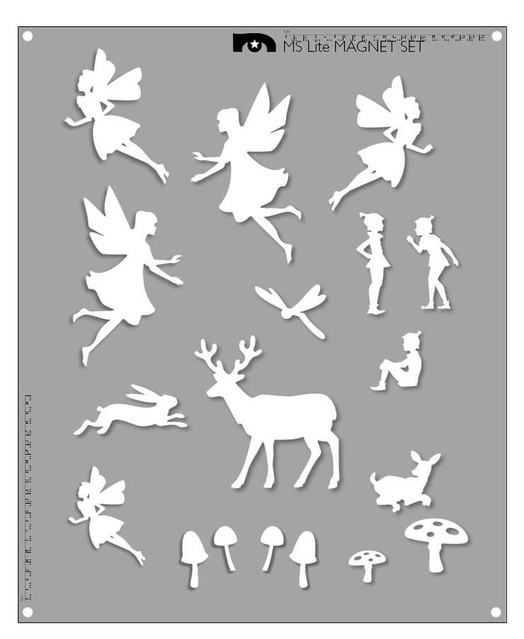 'Fairie' Custom magnet set.:  Walls & flooring by MAGSCAPES LTD