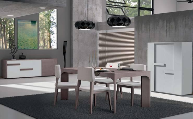 Salas de jantar Dining rooms: Sala de jantar  por Intense mobiliário e interiores;