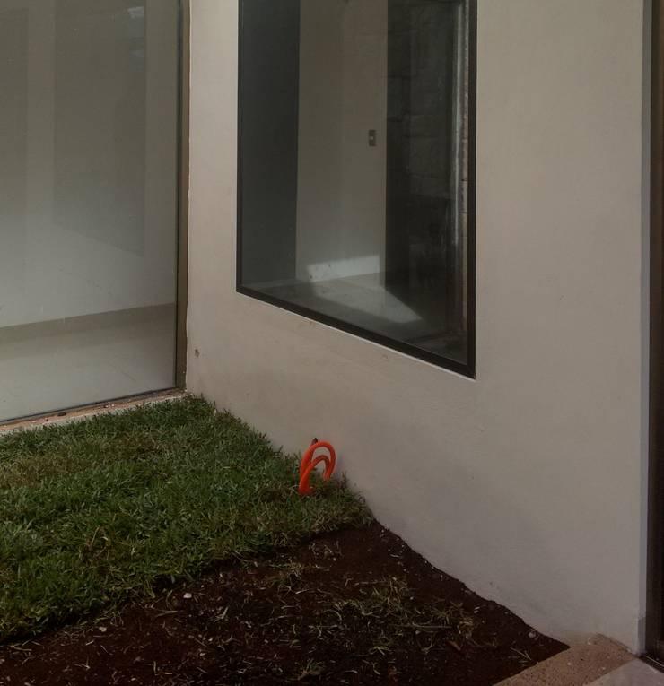 Remate Interior en acceso - antes de EcoEntorno Paisajismo Urbano