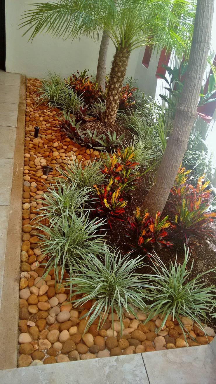 Jardinera en Vestíbulo de acceso - detalle final de EcoEntorno Paisajismo Urbano