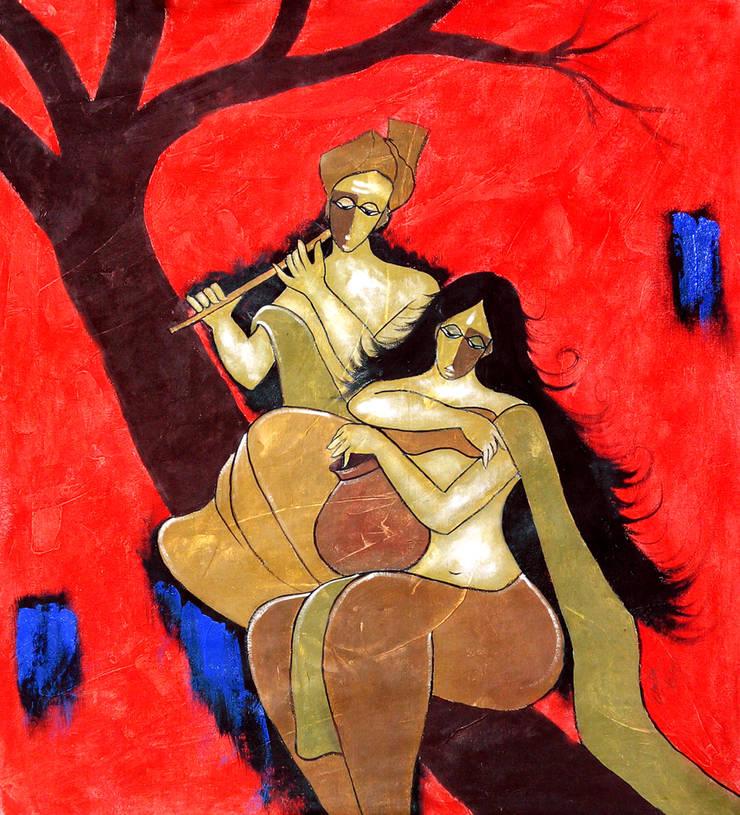 Romantic couple:  Artwork by Indian Art Ideas