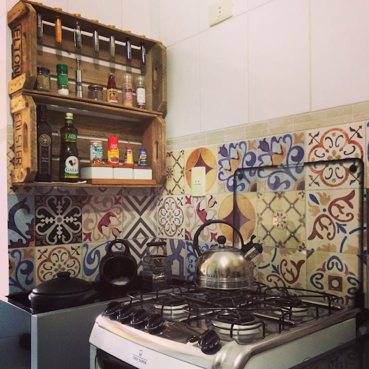 Adesivo Decorativo Azulejo: Cozinha  por Decoralis