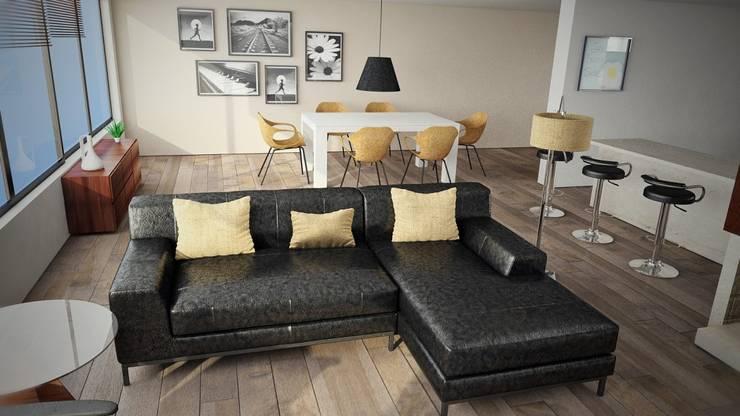 Proyecto Sala: Salas de estilo  por Pigmento 3D