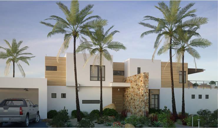 Casa AnEr: Casas de estilo  por Arqozs