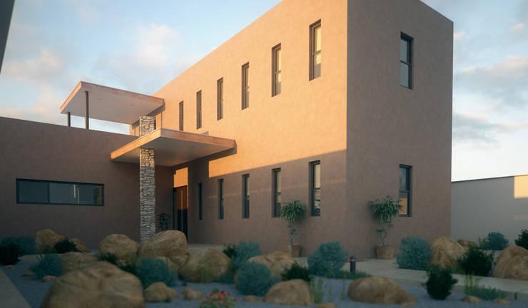 Casa Light: Casas de estilo  por Arqozs