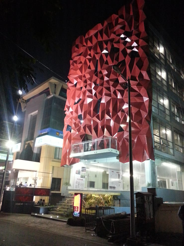 Parametric facade:  Commercial Spaces by SDI consultants pvt ltd