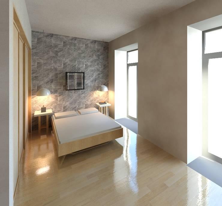 Chambre de style de style Moderne par Marta d'Alte Arquitetura