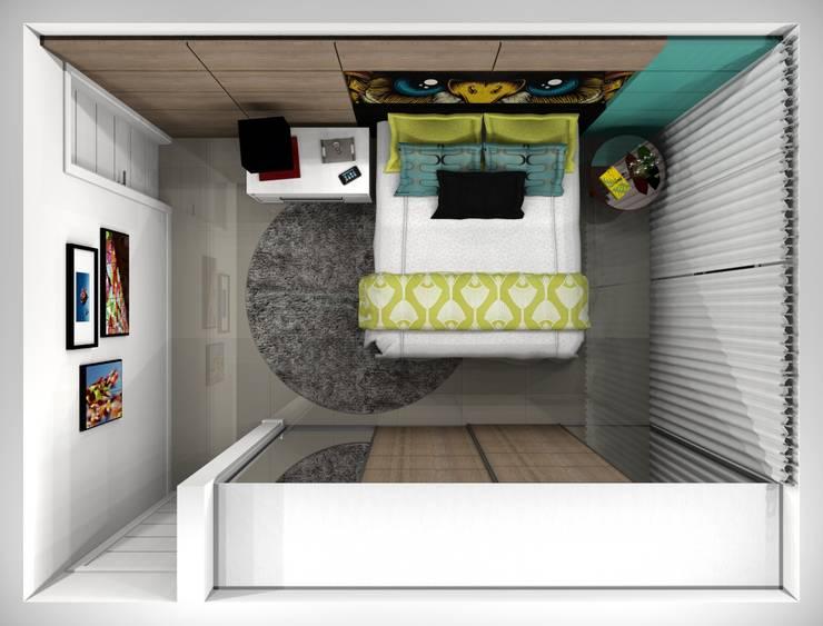 Quarto Moça: Quartos  por Aline Falci Arquitetura  e Interiores
