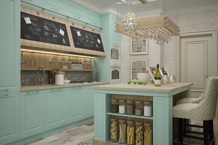 Студия дизайна Дарьи Одарюкが手掛けたキッチン